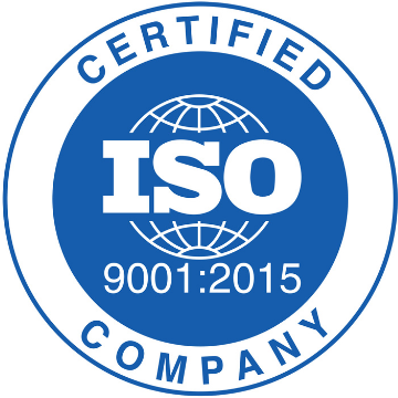 ISO9001 2015 CERTIFIED COMPANY